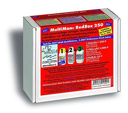 MultiMan RedBox zur jährlichen Reinigung von Trinkwasseranlagen (Reinigung, Desinfektion und Entkalkung), Tankgröße:Tanks ab 75 -250 l