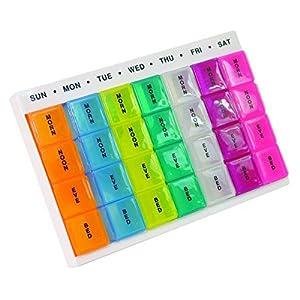 Colourful Week Day Multi Pill Dispenser