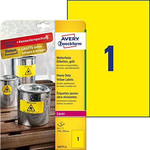 Avery Zweckform Etichette impermeabili 210 x 297 mm