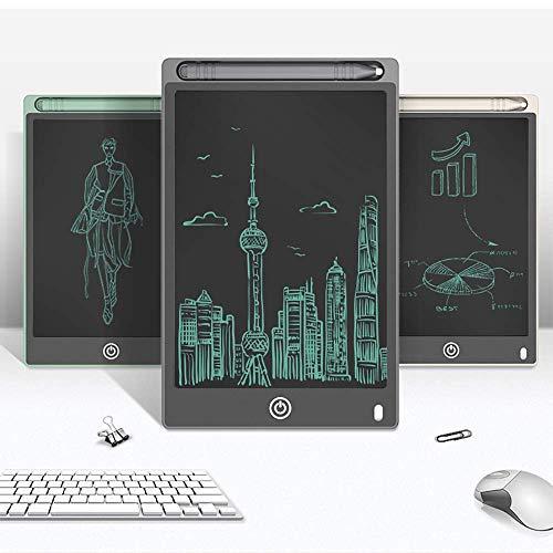 IG Multifunktionsschreibtablett LCD, Elektronisches Doodle-Schreib- und Zeichenbrett, 8,5-Zoll-Zeichenpapier für Kinder und Erwachsene, LCD-Zeichenblock mit Smart Stylus,Grau