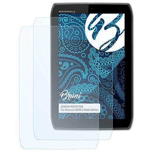 Bruni Schutzfolie für Motorola XOOM 2 Media Edition/Droid XYBOARD 8.2 Folie, glasklare Displayschutzfolie (2X) (Xoom Motorola)