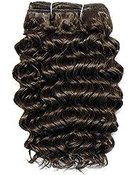 chear Disco Jerry trame Extension de cheveux humains avec de mélange tissage, numéro 4, Taille M, marron foncé...
