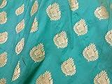 Banarasi helltürkis blau Brokat Stoff Brautkleid
