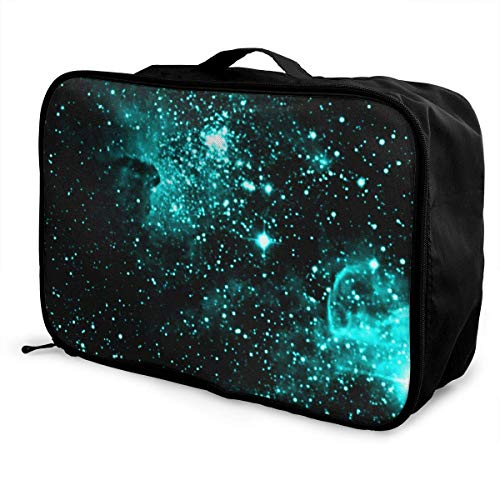 Qurbet Borsone da Viaggio,Borsoni Viaggio,Borsa Multiuso, Portable Luggage Duffel Bag Starry Sky Travel Bags Carry-on in Trolley Handle