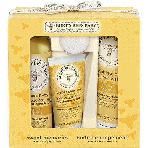 Burt's Bees Babypflegeset Sweet Memories, 1er Pack (1 x 4 Stück) - Gesichter Bekannte Lotion