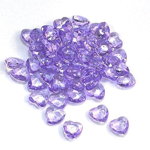 SiDeSo® Dekosteine Herzdiamanten Herzen 100 Stück viele Farben Acryl Tischdeko Streudeko Hochzeit
