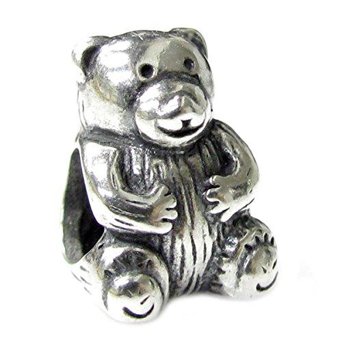 Queenberry Sterling Silber Cute Teddy Bär im europäischen Stil Charm Bead -