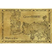 "Pyramid International ""Antique Map Game Of Thrones"" Maxi Poster, Multi-Colour, 61 x 91.5 x 1.3 cm"