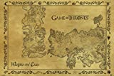 Game Of Thrones Pyramid PP33390 - Poster con diseño Antique Map, 61 x 91.5 cm
