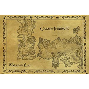 Pyramid PP33390 - Poster con diseño Game Of Thrones Antique Map, 61 x 91.5 cm 1