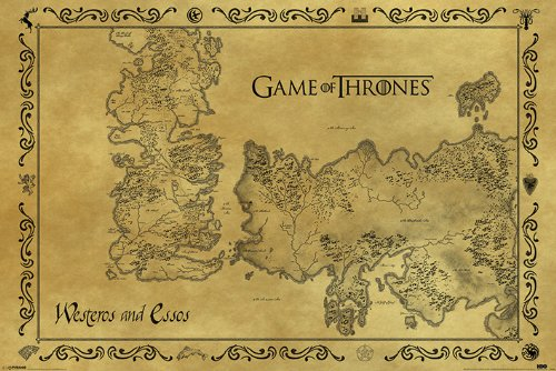 Game of Thrones Poster Map Maxi Antik