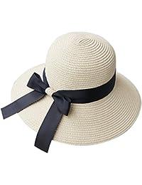 Chytaii Cappello da Sole Capeline in Paglia Cappello a Bordo Largo Donna  Anti-Soleil UV Cappello da Spiaggia Viaggio Protezione Solare in… dc069564470c