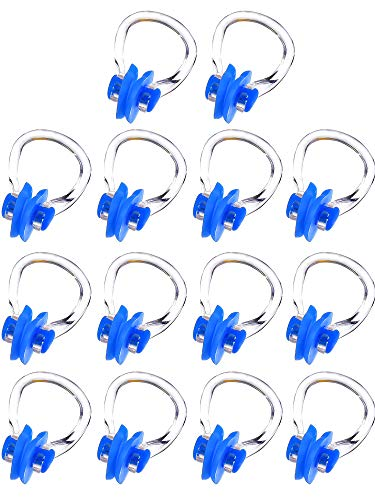14 Stück Nase Clip Schwimmen Nase Plug Swim Nasenschutz für Schwimmen, 14 Farben (Blue)