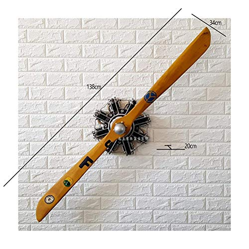 IG Home Furnishing Wall Decorations Handmade Metal Wood Plane Creative Propeller Wall Model Ornament Decorative Wall Hanging Three-dimensional