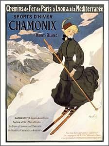 Chamonix, Winter Sports, Travel Poster (30x40cm Art Print)