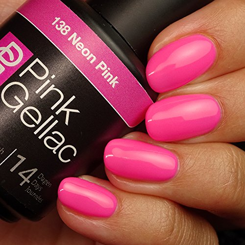 "Pink Gellac, Gel-Nagellack, 15 ml, Farbton ""Neon Pink"""