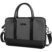 prsTECH® LONDON Slim Case Leather Leder Laptop Notebook Tasche Slim Case 15 inch Zoll Tasche MacBook, Asus, Acer, HP, Sony, Dell, Lenovo