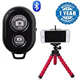 #9: Captcha Mobile Phone Flexible Grip Octopus Style Tripod and Bluetooth Remote Shutter Button for Selfie Stick