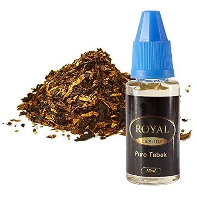 E-Liquid Pure Tabak ohne Nikotin für E-Zigarette 12ml Inhalt von Royal Liquids