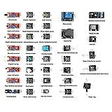 SainSmart 37en 1Sensor Module Kit For Arduino UNO R3Mega2560Mega328Nano Raspberry Pi 3/PI 2Robotic Robotics, Kit+ Plastic Box