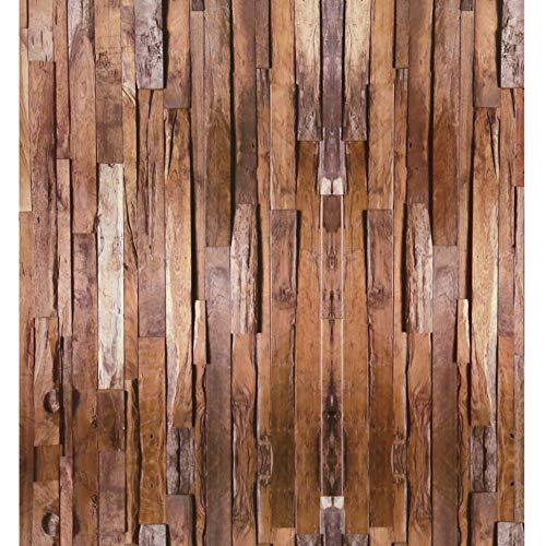 Blooming Wall Vintage Beach Wood Peel & Stick Tapete, selbstklebende Wandbilder, Wanddekoration, Kontaktpapier, 121,9 m/Rolle (Peel Und Stick Holz Wallpaper)