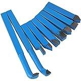 BQLZR 10x 10mm Aleación de corte con punta de carburo punta Set cortador herramienta Bit torno para metal Herramientas Paquete de 9, azul