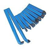 Juego de 9 cortadoras para torno de metal, de BQLZR, aleación de carburo, 10x 10mm, con punta, azul, BQLZRN20217