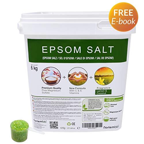 Nortembio Sal Epsom 6 Kg. Novedosa Fragancia Limón