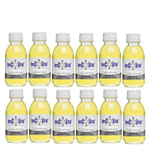 Bio-Colostrum direct bestellen von best vital Extrakt 125ml, Immunabwehr (12 x 125 ml)