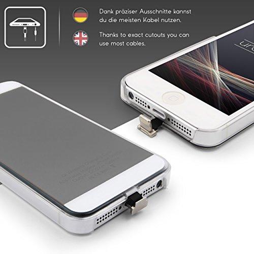 URCOVER Custodia Protettiva Wireless Qi Apple iPhone SE 5 5s | Cover Backcase Bordo in TPU Scocca Rigida | Cover Morbida Carica a Induzione in Argento | Ricevitore Qi Integrato Grigio