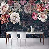 WH-PORP 3D Tapete Europäischen Stil Blumen Pastoralen Foto Wandmalereien Wohnzimmer Tv Sofa Schlafzimmer Vintage Wandmalerei-350cmX245cm