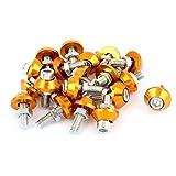 sourcingmap® 20stk Motorrad Kennzeichenleuchte Schraube Sechskantschrauben Orange Silber Ton