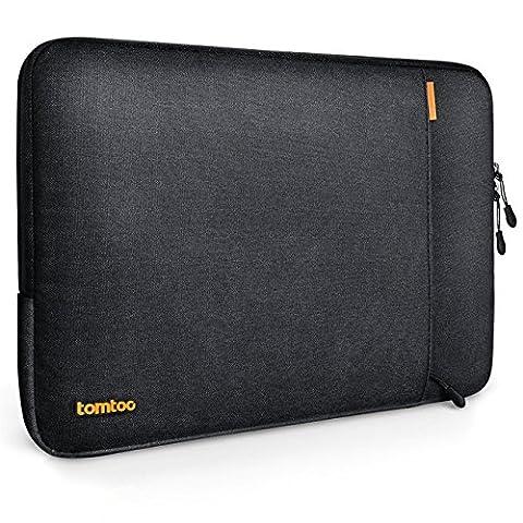 Tomtoc 15 pouces Housse de protection en tissu pour 15 pouces Nouveau MacBook Pro 2016 avec Touch Bar et Touch ID (modèle A1707), Noir