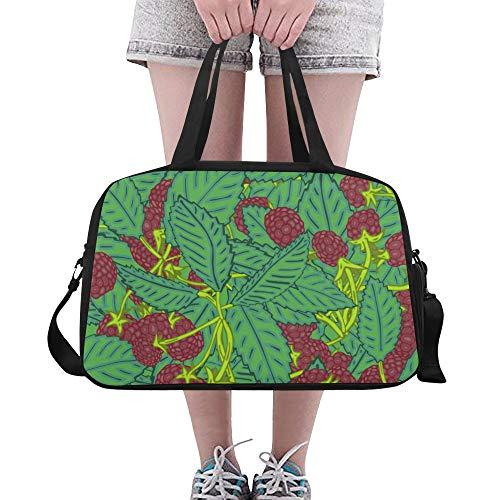 Plosds Europäische Schwarze Johannisbeere Obst Große Yoga Gym Totes Fitness Handtaschen Reise Seesäcke Schultergurt Schuhbeutel Für Übung Sport Gepäck Für Mädchen Männer Frauen Outdoor Fo-blackberry