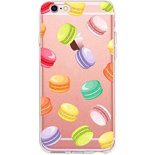 GIRLSCASES®   iPhone 6-6S Hülle   Im Fee Motiv Muster   in schwarz   Fashion Case transparente Schutzhülle aus Silikon Donut Muster 5