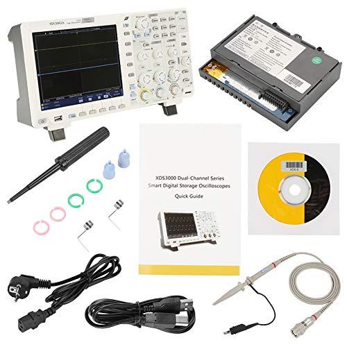 OWON Oszilloskop Datenlogger Multimeter Wellenformgenerator 12 Bit digitaler Speicher 60MHZ 2 Kanäle LCD-Display AC100-240V Abtastrate 1GS/s USB Oszilloskop Rekordlänge 40M (mit batterie)
