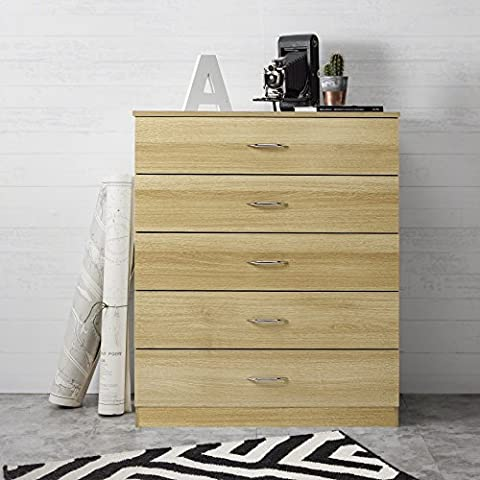 Laura James | Tall Chest of Drawers | 5 Drawer | Bedroom Furniture (OAK)