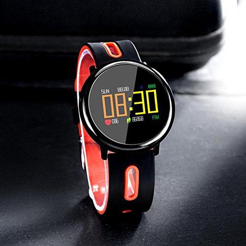 Arvin87Lyly Sport Fitness Smart Watch Wasserdichte Bluetooth Uhr Herzfrequenz Blutdruck Schrittzähler Schlaf Monitor Aktivität Tracker Outdoor Sport Tragbare Armband Uhr