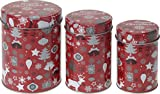 Gebäckdose Plätzchendose Blechdosen Weihnachten 3-teilig Blech rund X-MAS