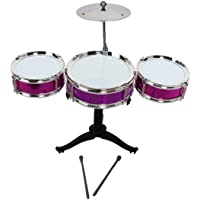 Toyico Jazz Drum Set with 3 Musical Drum, 2 Drum Sticks and 1 Band Stand - Music Toy for Kids- Multi Color