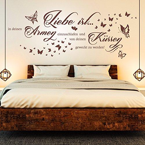 in deinen Armen einzuschlafen... | Spruch Paare Schlafzimmer Deko Braun 800 159 x 60 cm (Armee Sprüche)
