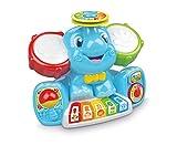 Questo divertente centro attività musicale ricco di canzoni, melodie, suoni e strumenti, appositamente studiato per introdurre il bambino nel mondo della musica. Il simpatico elefantino in concerto ha due grandi orecchie tamburo, una colorata...