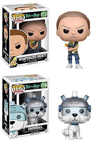 Funko POP! Rick & Morty: Weaponized Morty + Snowball - Stylized Vinyl