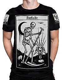 Darkside, Death Tarot T-Shirt für Herren, Größe: Medium (40 inch chest)