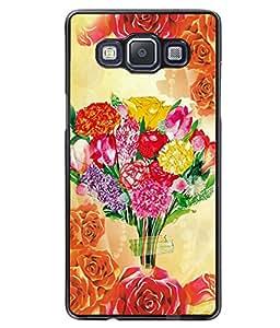 Fuson 2D Printed Flower Designer back case cover for Samsung Galaxy A5 - D4559