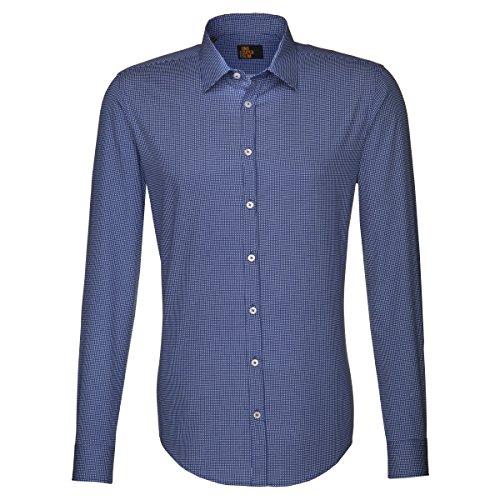 Seidensticker - Uno Super Slim, Camicia formale da uomo,  manica lunga, collo classico Blau