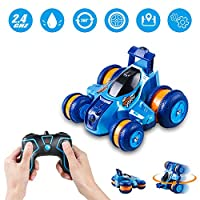 ‏‪Innoo Tech RC Stunt Car Rechargeable Racing Car with 2.4Ghz Remote Control, High Speed Car Toys 4WD Double Sided 360° Spins and Flips Driving Car Toys for Kids Boy, Blue‬‏