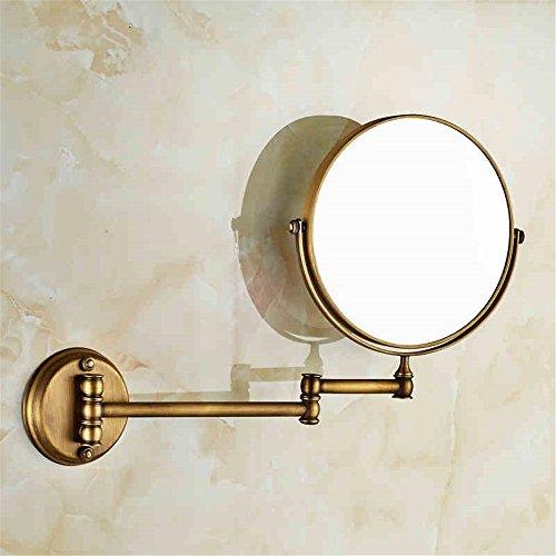 Weare Home Schöner Wandmontag Rund Deko Retro Bronze Kupfer Messing drehen Badezimmer Wohnzimmer Dusche Spiegel
