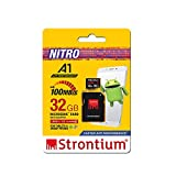 Strontium Nitro A1 32GB Micro SDHC Memory Card 100MB/s A1 UHS-I U1 Class 10 with High Speed Adapter for Smartphones Tablets Drones Action Cams