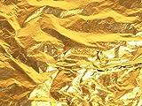 x100 BULK BUY VERY LARGE GOLD LEAF LOOSE LEAVES SHEETS FOR NAIL ART CRAFTS PICTURE FRAMES GILDING MODEL MAKING